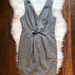 UO Gray Sheath Bow Dress