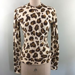 Vintage 80s or 90s // Guess USA // Leopard Sweater