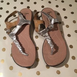 BOC silver metallic sandals
