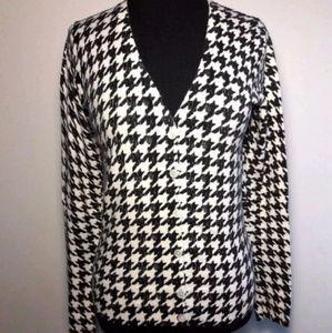 Merona Cardigan Houndstooth Sweater Size Small