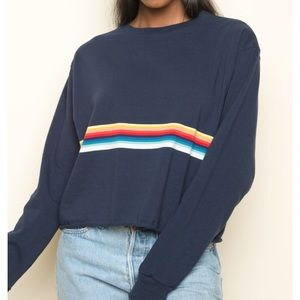 Brandy Melville Navy Acacia Long Sleeve NWT
