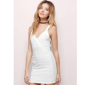 NWT TOBI White Bandaged Bodycon Dress