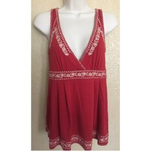 Forever Red Detailed Top