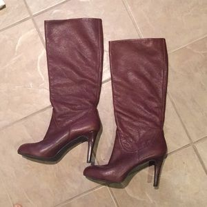 Brown Leather Heeled Boots Enzo Angiolini