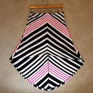 Bebe Chevron High Low Skirt