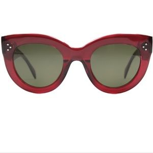 CELINÉ Audrey Red Cateye Sunglasses CL41050