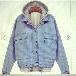 Double layer denim jacket