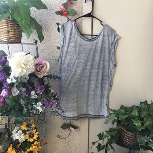 Sheer Gray Grunge Muscle t shirt