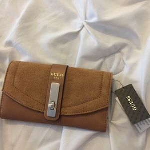 Suede Guess Wallet