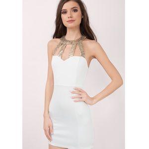 NWT TOBI WHITE BODYCON DRESS
