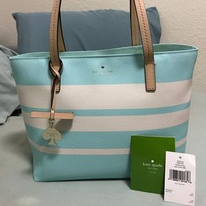 Blue and White Kate Spade Tote
