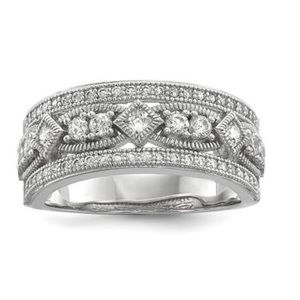Jewelry - 925 Sterling Silver White CZ Perfect Pavé Ring
