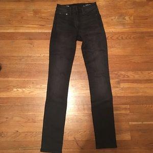 GAP Black Slim Straight Jeans 24