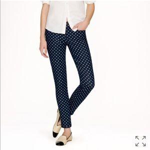 J. CREW polka dot toothpick skinny jeans