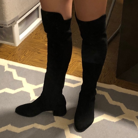 4bae582a3 Stuart Weitzman Shoes | Fifo Over The Knee Boot 75 Black | Poshmark