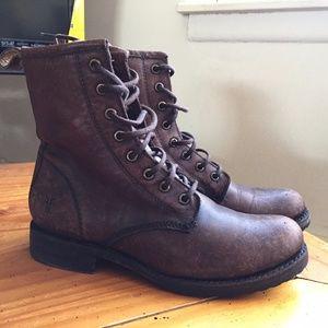 FRYE Veronica Combat Boots Size 7 Women's