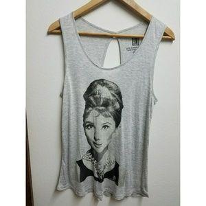 Forever 21 Audrey Hepburn Design Tank Shirt