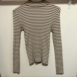 Striped mock turtleneck F21