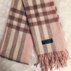 The Classic Check Cashmere Scarf, Light Pink
