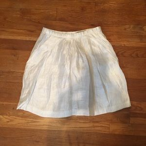 H&M White Shimmer Skirt 4