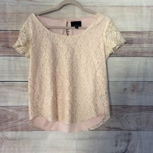 Cynthia Rowley Ivory Lace Blouse S