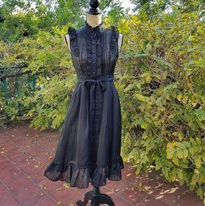 Black Tuxedo Style Dress