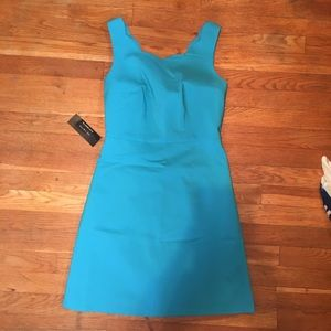 The Limited Scalloped Edge Blue Dress 0 NWT