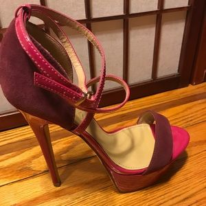 Also Shoes Burgundy Red high heels Sandals