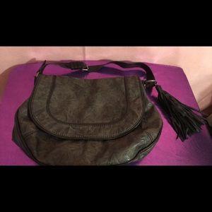 Charcoal satchel purse