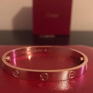 200$ NEW Cartier Love bangles bracelets rose gold