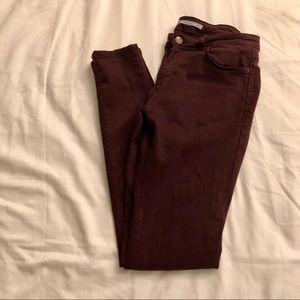 Zara burgundy skinny jeans