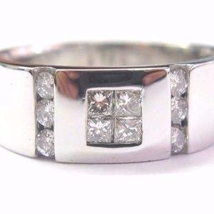 Fine 18Kt Multi Shape Diamond White Gold Jewelry