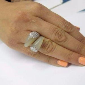 Fine 18Kt Designer Diamond Jewelry White Gold Ring