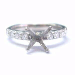 A. Jaffe 18Kt White Gold Diamond Mounting Ring .40