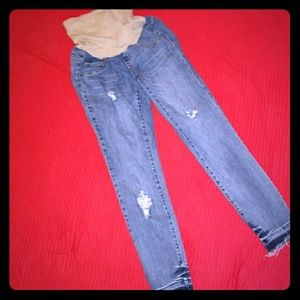 Small Jessica Simpson Distressed MaternityJeans