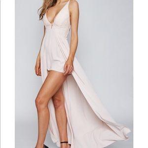Long Maxi Romper Dress