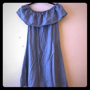 NWOT Denim Charlotte Russe Convertible Dress Sz L