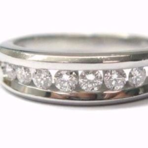 Scott Kay Platinum Channel Set Diamond Band Ring 0