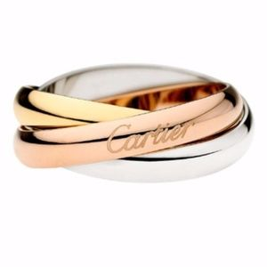 3 Ring in One Bronze Silver Gold Simple Ring Thumb