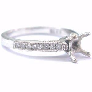 Tacori 18Kt White Gold Diamond Mounting Ring .25Ct