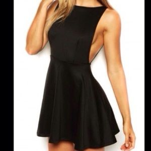Black American Apparel Side Boob Skater Dress Sz L