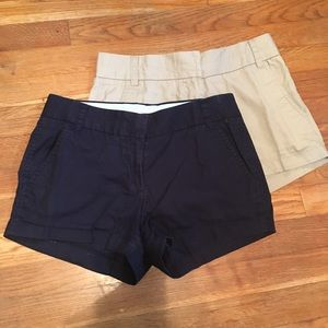 Lot of 2 J. Crew Chino Shorts 0