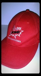 THREE OLIVES VODKA RED BASEBALL CAP HAT