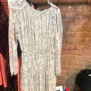 NWOT long-sleeve peasant dress