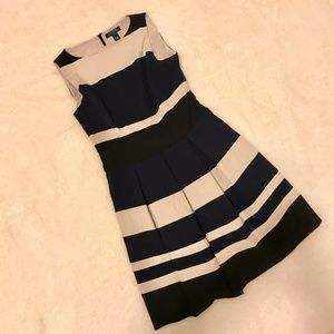 Ralph Lauren Striped Fit and Flare Dress NWT #174