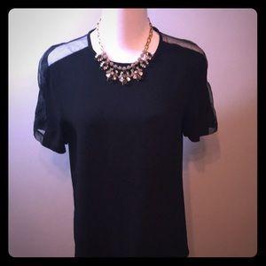 Black Friday Sale!!💥 Zara sheer cold shoulder top