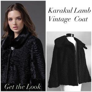 Vintage Karakul Lamb Coat