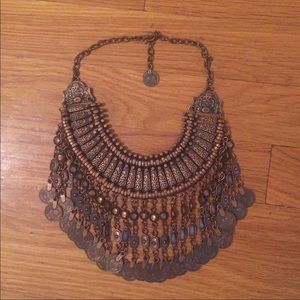 Free People Brass Coin Necklace