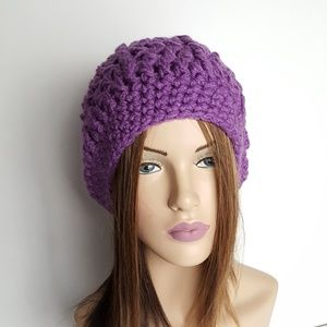 Purple Crochet Beanie