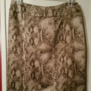Ny&Co Snakeskin Skirt